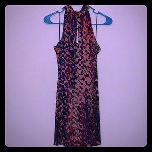NWT Trina Turk High Neck Swing Dress Small